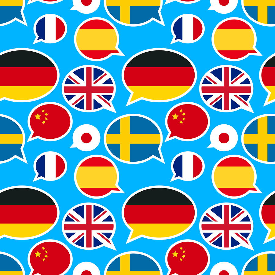 pattern of flag speech bubbles