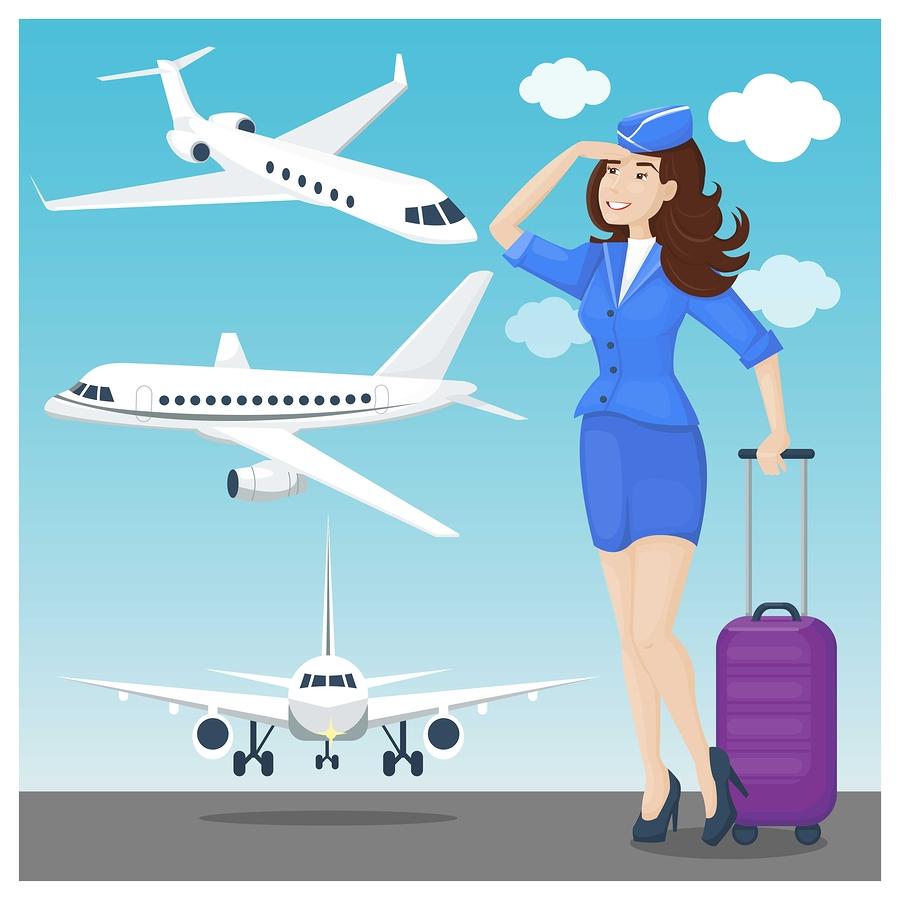 airline cabin attendant