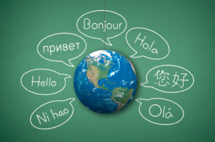 Hello in languages around globe