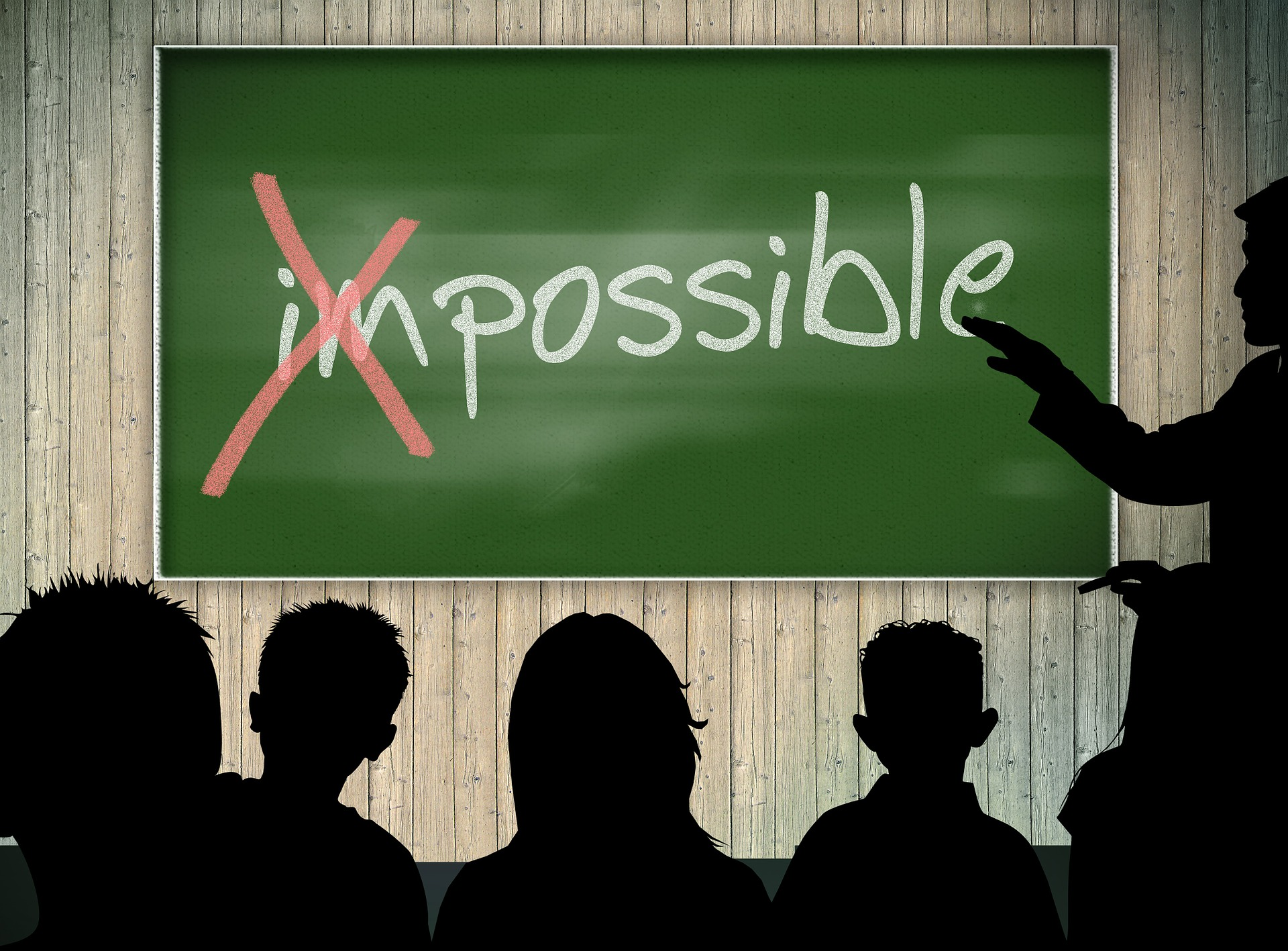 word impossible on blackboard