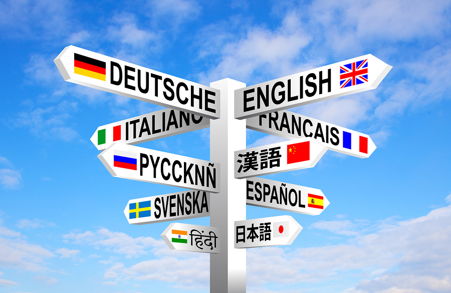 multilingual signpost