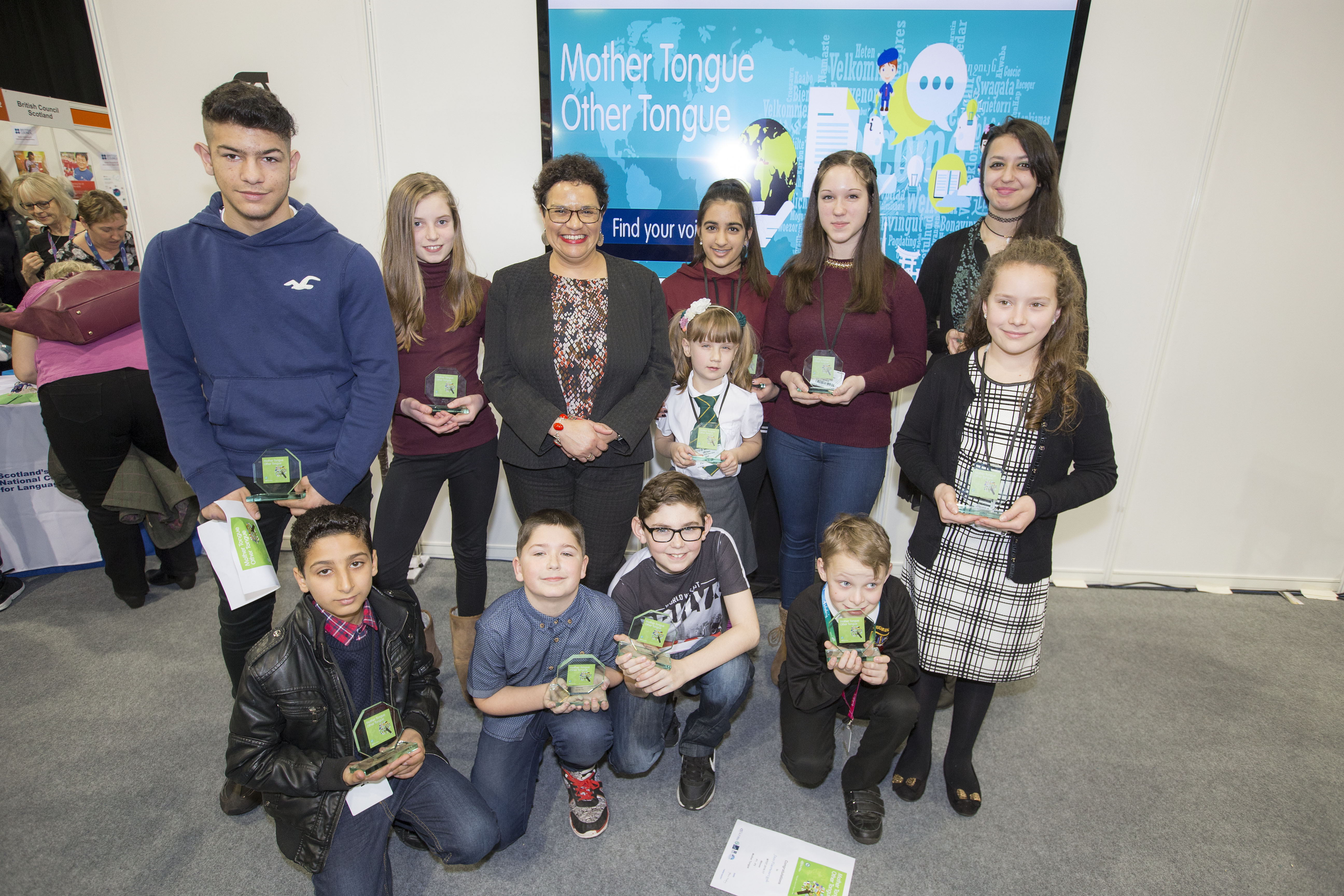 MTOT 2016-17 winners with Jackie Kay